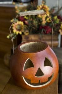 green halloween treats pumpkin basket