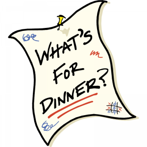 what's for dinner? sign for eating naturally
