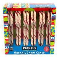 Pure Fun natural candy canes for Peppermint Bark Recipe