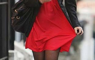 red dress in need of natural remedies for static cling