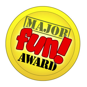 major fun award graphic for thrifting
