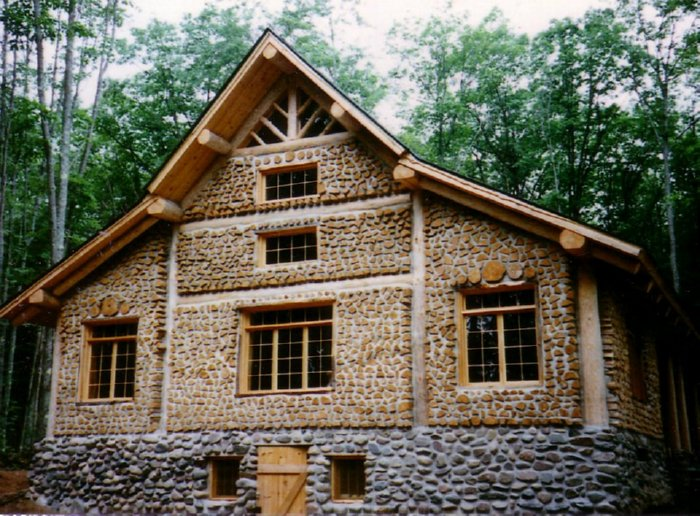 Cordwood lodge for Cordwood house cost
