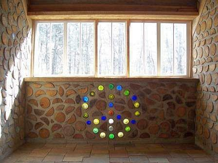 cordwood peace sign